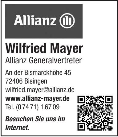 Wilfried Mayer Allianz Generalvertreter