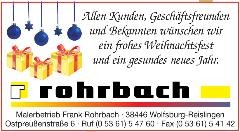 Malerbetrieb Frank Rohrbach
