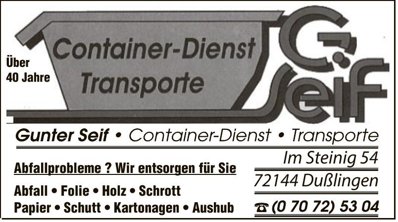 Geif - Container-Dienst Transporte