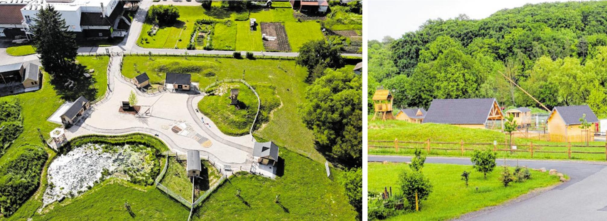 Als Erlebnislandschaft für kleine und große Entdecker stellt sich der neue Park dar. Dabei wurde auf nachhaltiges Bauen mit viel Holz geachtet.
