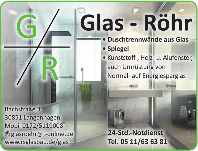 Glas-Röhr