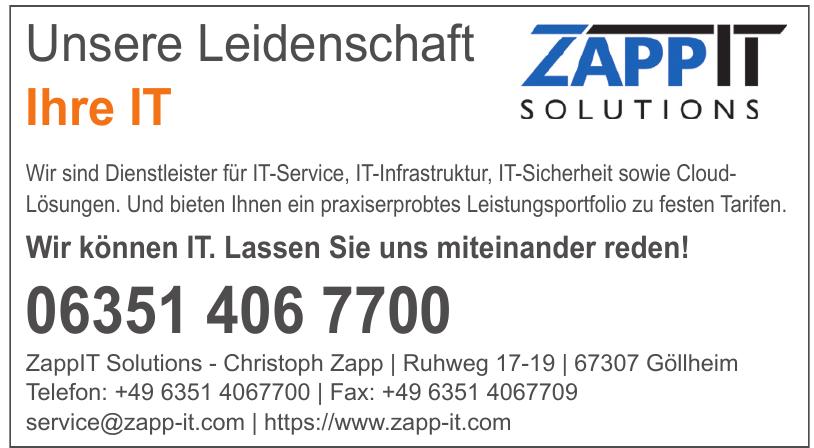 ZappIT Solutions - Christoph Zapp
