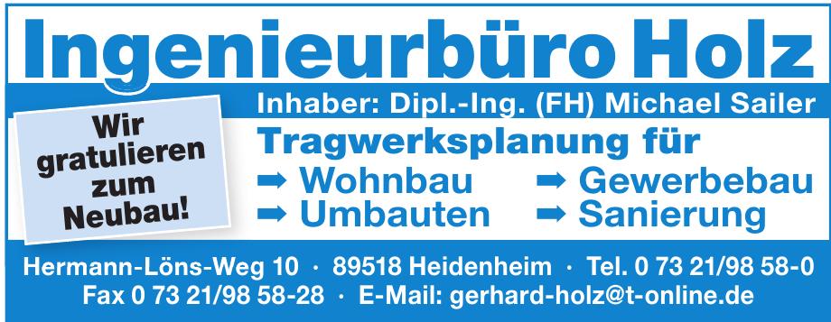 Ingenieurbüro Holz- Dipl. Ing. (FH) Michael Sailer
