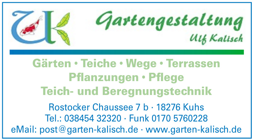 Gartengestaltung Kalisch