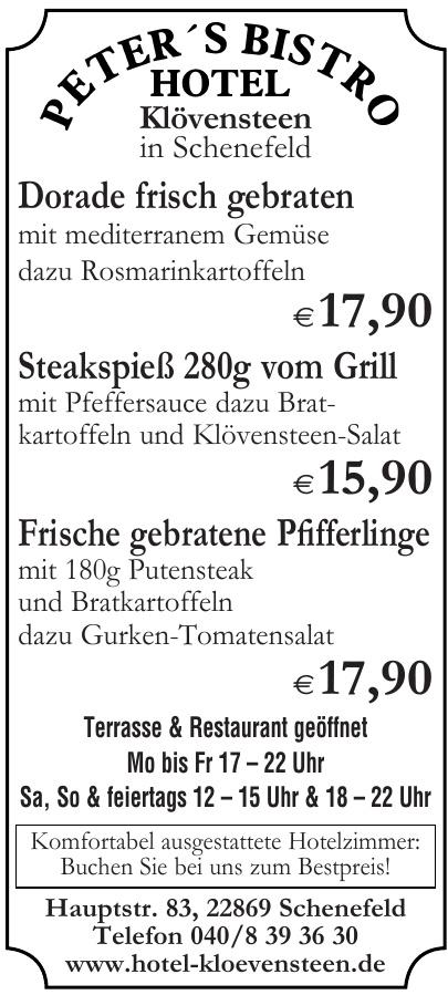 Hotel Klövensteen - Peter´s Bistro