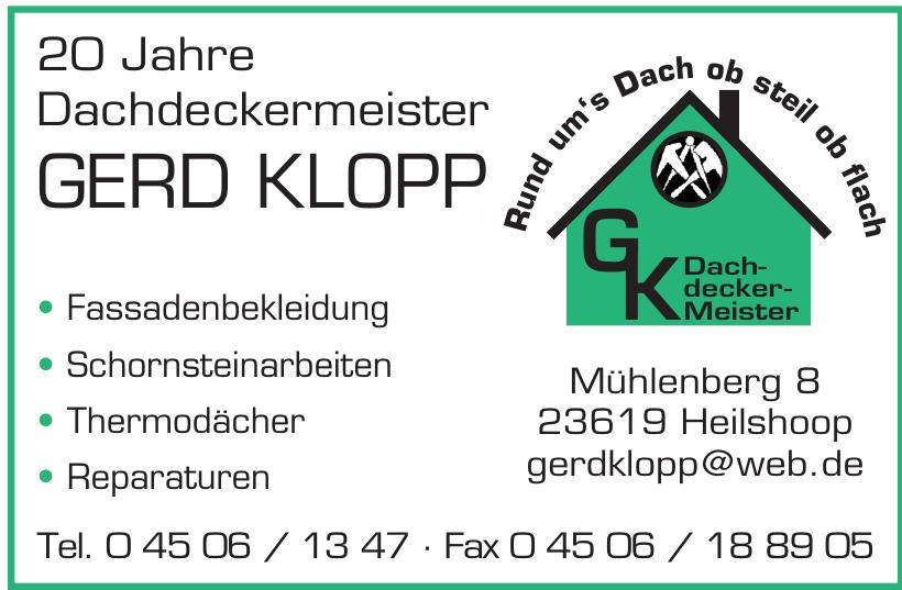 Gerd Klopp Dachdeckermeister