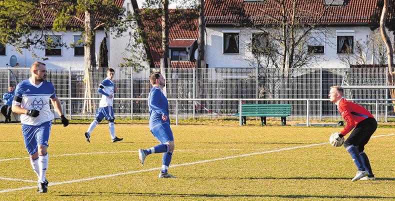 Spielszene Eberswalder SC gegen 1. FC Finowfurt