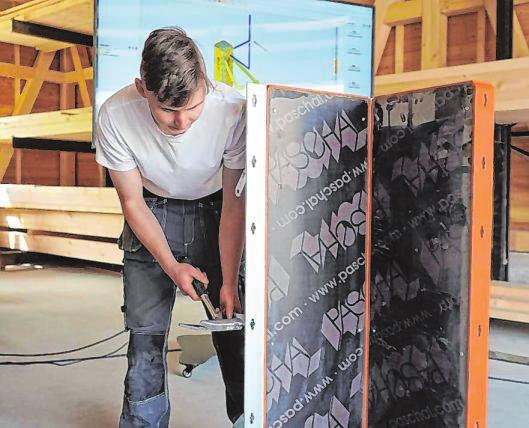 Im Bereich Betonbau kommt den Auszubildenden im AWZ Bau in Fellinghausen die digitale Technik zugute.