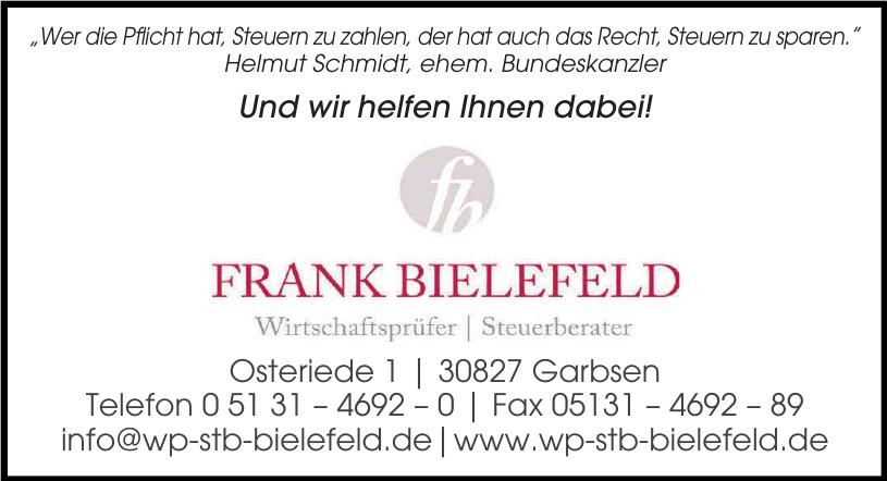 Frank Bielefeld Wirtschaftsfürer Steuerberater