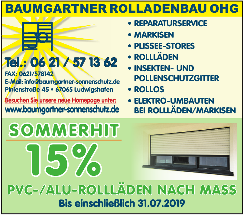 Baumgartner Rolladenbau  OHG