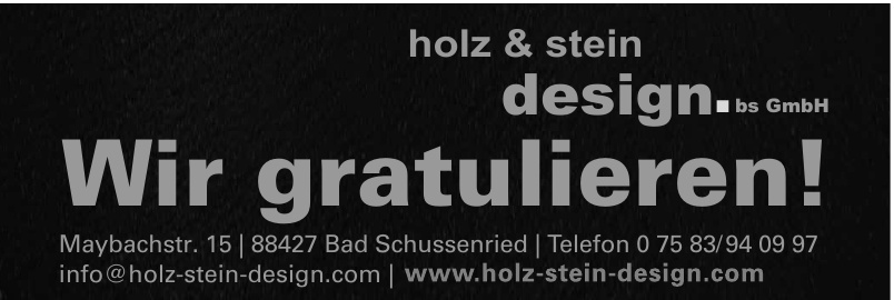 Stadler Holz & Stein design
