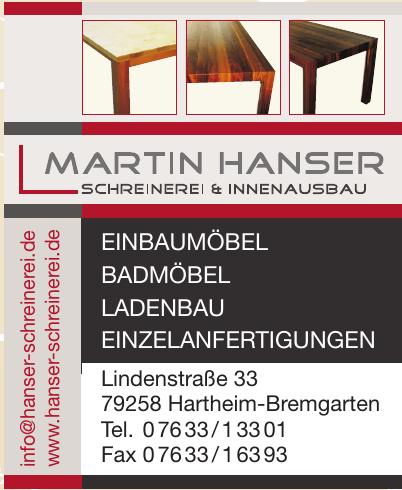 Schreinerei Martin Hanser