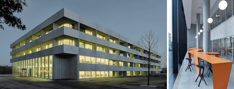 Das 100 Meter lange und 50 Meter breite neue Forschungsgebäude bietet Platz für modernste Labore, Werkstätten, Seminarräume, Hörsaal, Büros und Kommunikationsbereiche. Bilder: Vermögen und Bau Baden-Württemberg