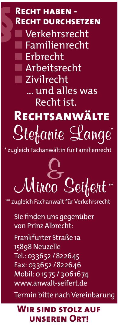 Rechtsanwälte Stefanie Lange & Mirco Seifert