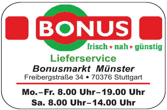 Lieferservice Bonusmarkt Münster
