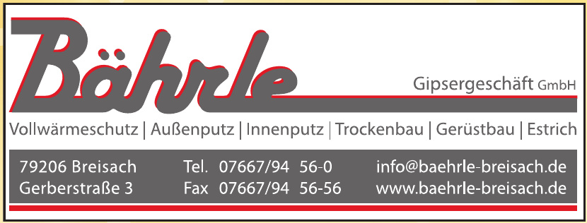 Bährle Gipsergeschäft GmbH