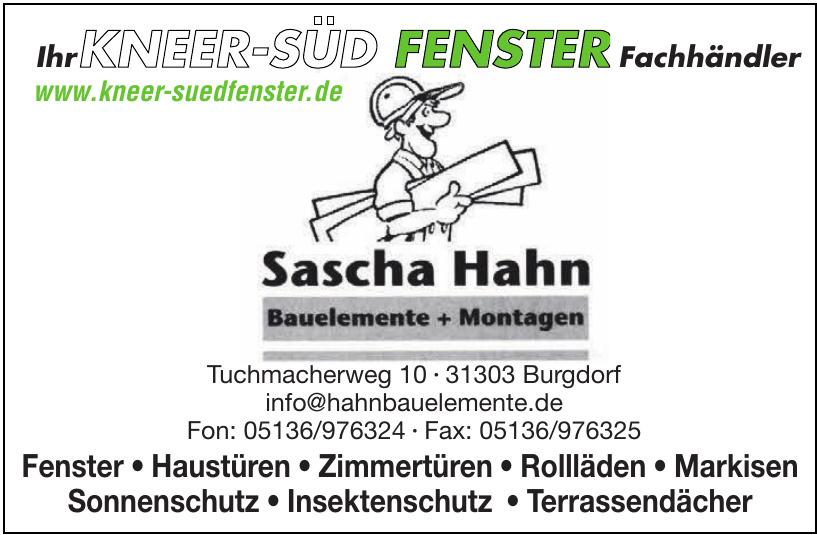 Sascha Hahn Bauelemente+Montagen