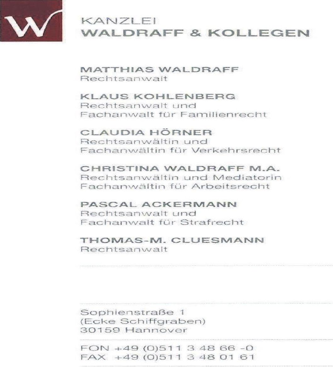 Kanzlei Waldraff & Kollegen