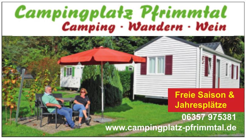 Campingplatz Pfrimmtal