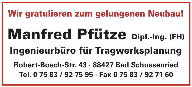 Manfred Pfütze Dipl.-Ing. (FH)