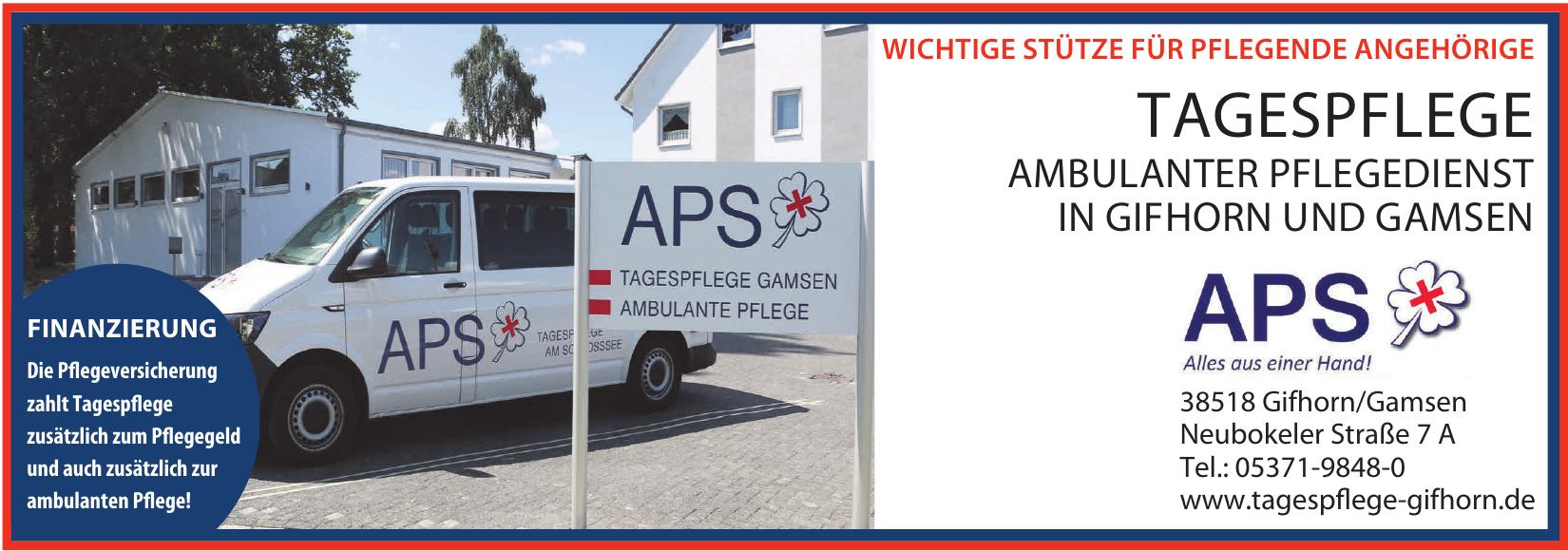 APS Tagespflege Ambulanter Pflegedienst Gifhorn und Gamsen