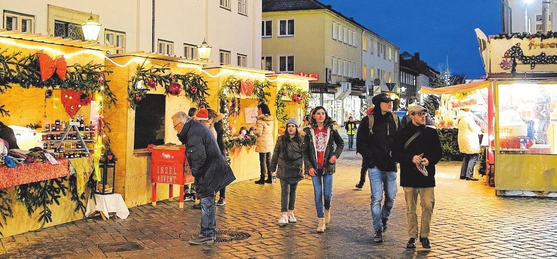 Insel-Advent vom Marktplatz bis zum Dom. FOTOS: BILLER