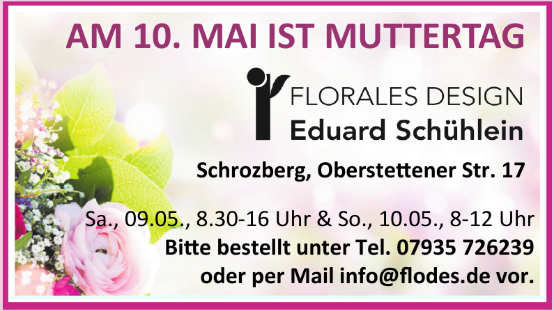 Florales design Eduard Schühler