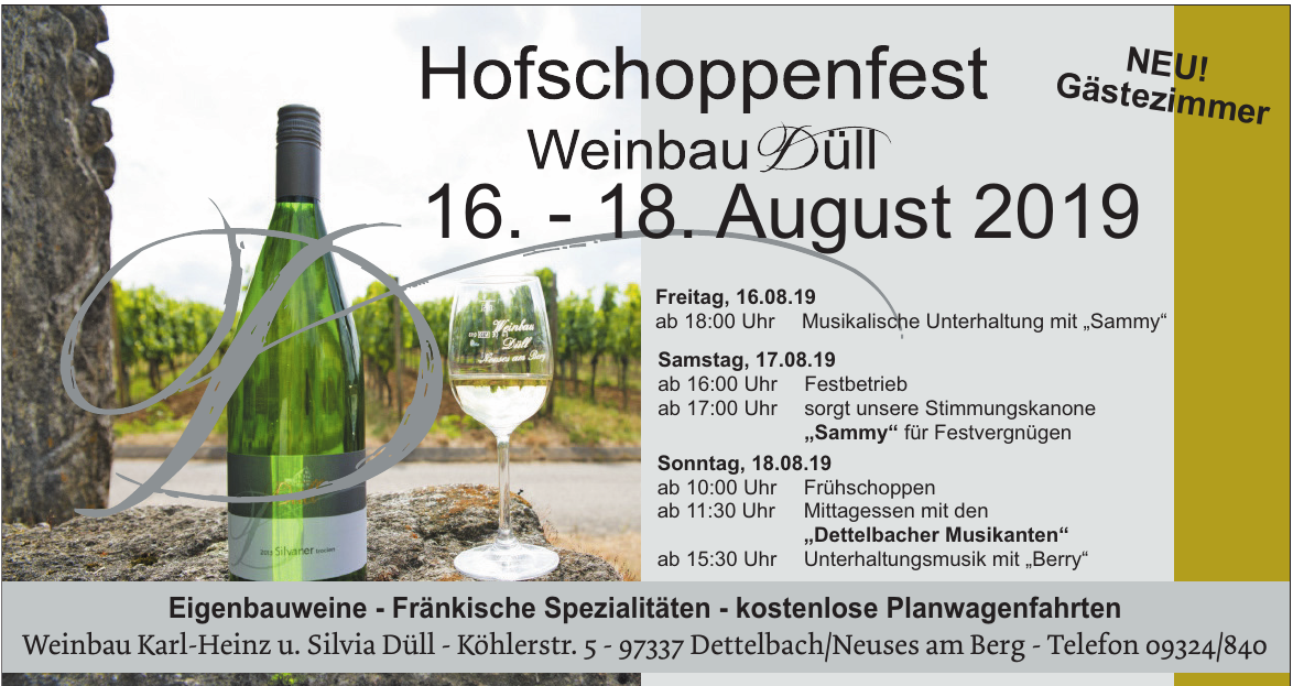 Hofschoppenfest Weinbau Düll