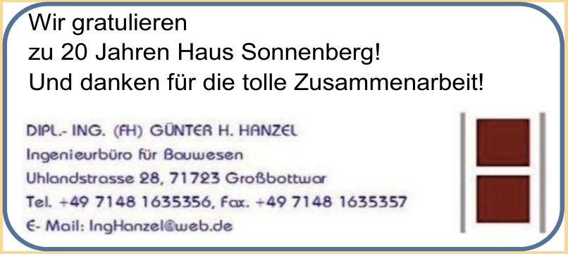 DIPL.- ING. (FH) Günter H. Hanzel