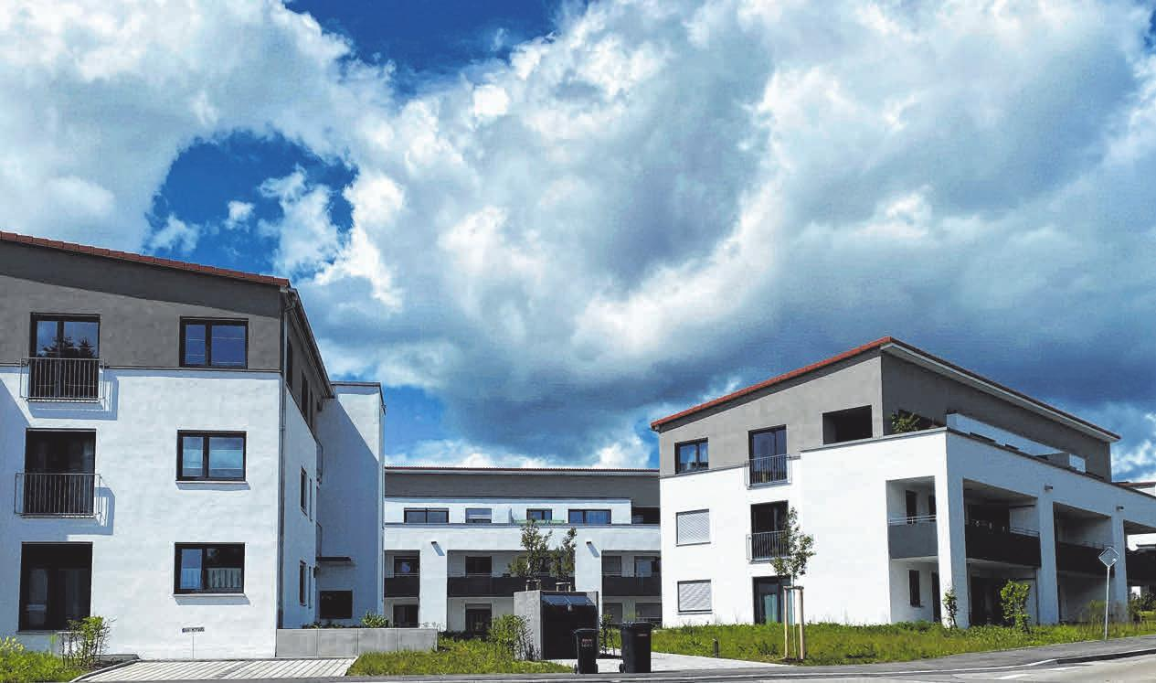Die Architektur hat sich in den vergangenen Jahren deutlich verändert. Der Neubau am Mittelhof in Ellwangen zeigt die moderne Bauweise. FOTOS: BG