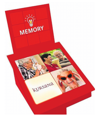 """Das """"Kursana-Memory""""-Spiel lädt auf der Seniorenmesse dazu ein, spielerisch Gedächtnis und Schnelligkeit auf die Probe zu stellen.Foto: Kursana"""
