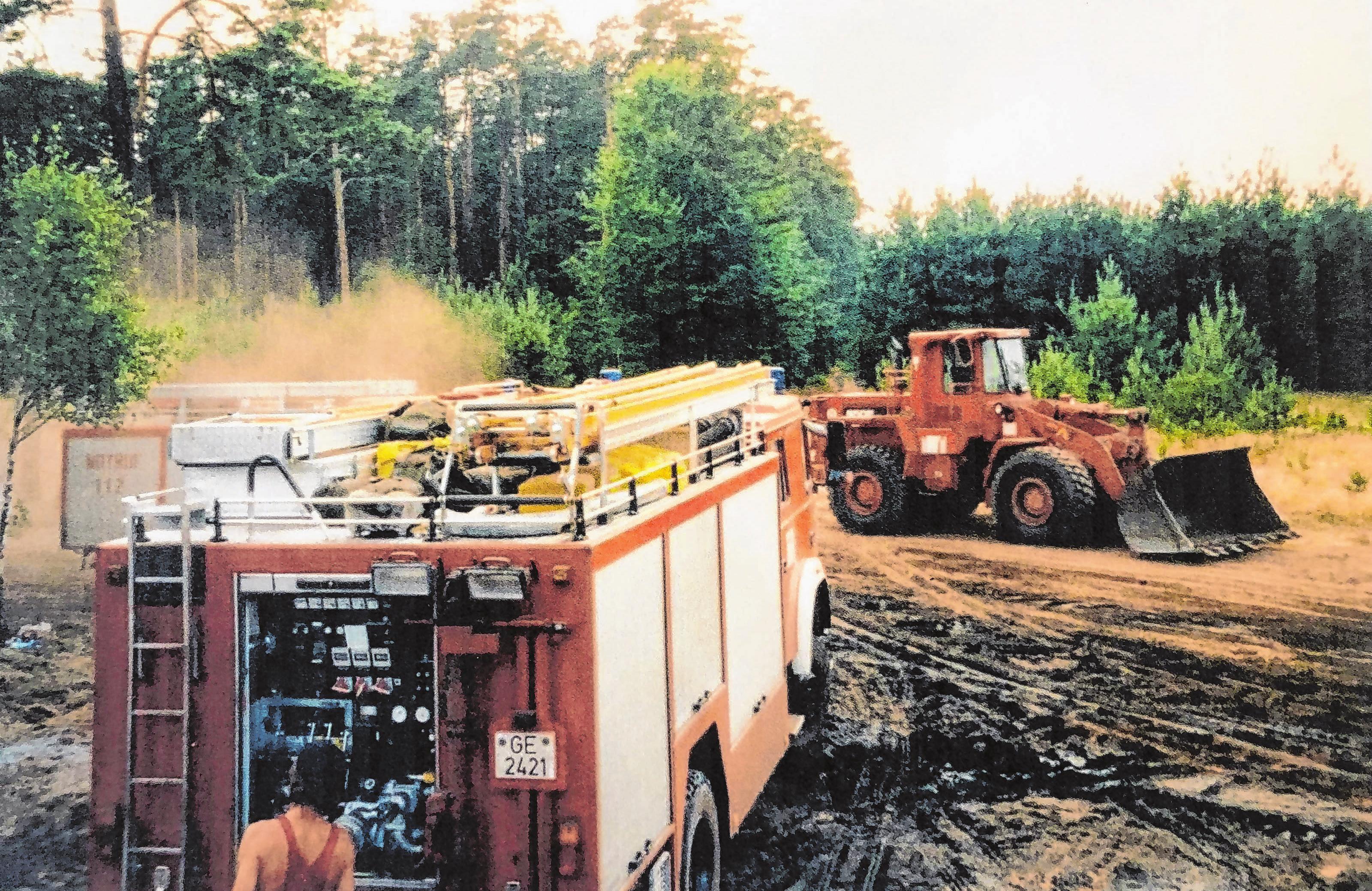 Einsatz im Briesewald 1992 Archiv-Foto: Klaus-Günther Schnur