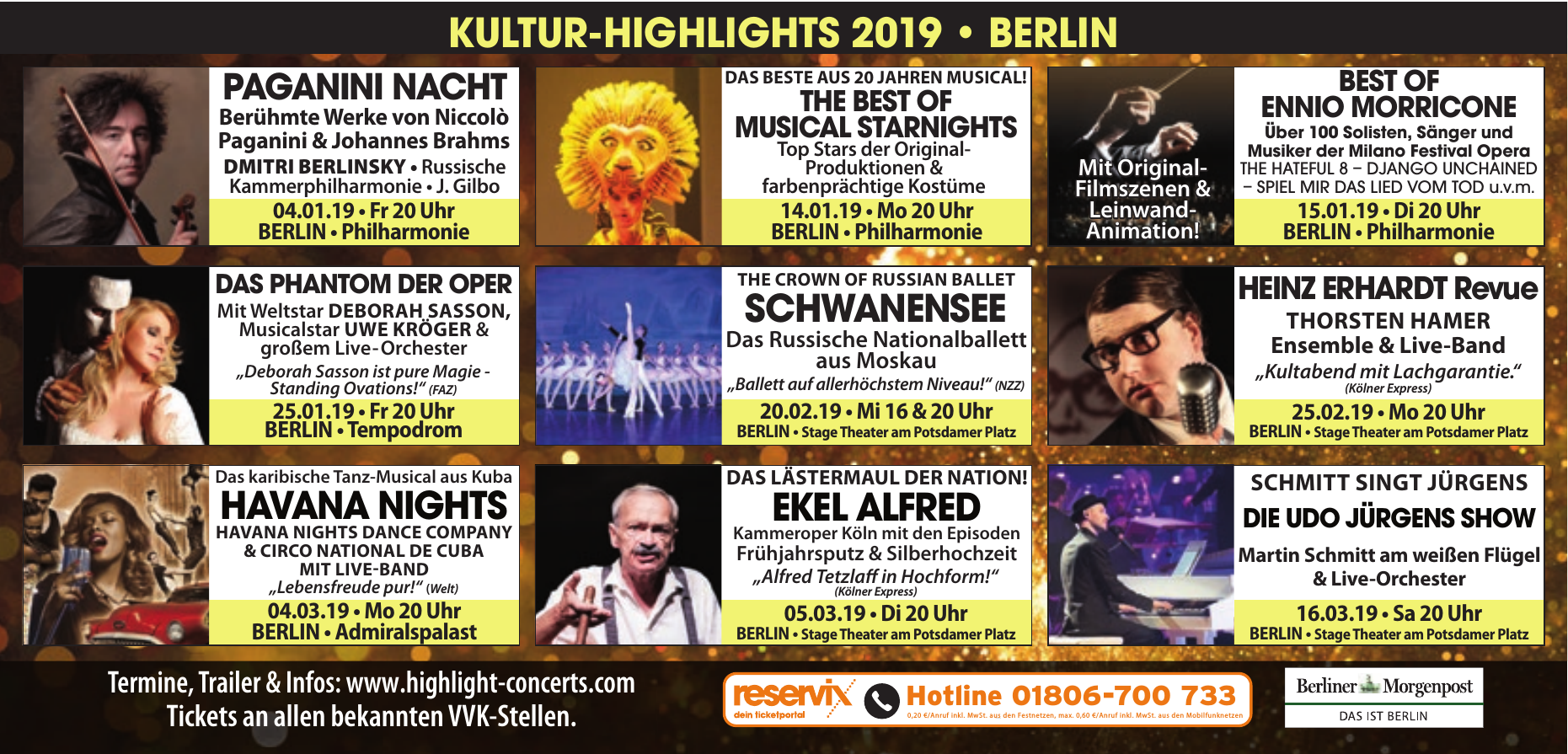 Kultur-Highlights 2019