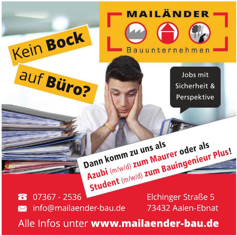 Mailänder Bauunternehmen GmbH
