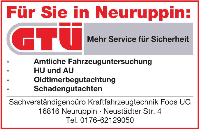 Sachverständigenbüro Kraftfahrzeugtechnik Foos UG