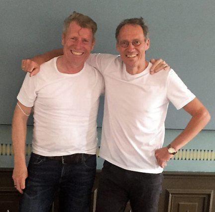 Super Teamarbeit: Die beiden Hauptorganisatoren und Praktikantenbetreuer Marc Oßwald und Dieter Baumann (rechts). Bild: Straubinger