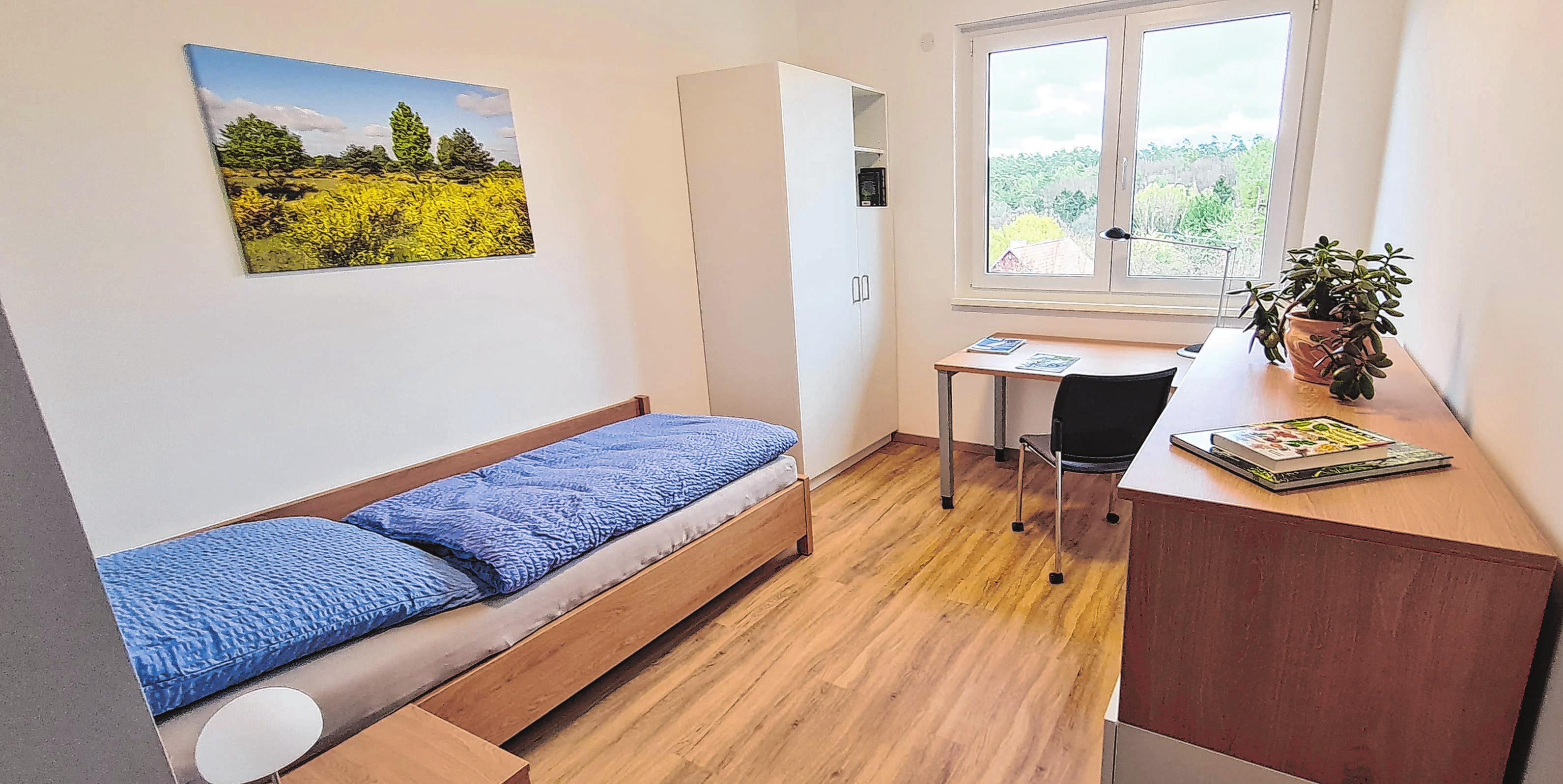 Die Waldarbeitsschule verfügt jetzt über moderne und geräumige Einzelzimmer.