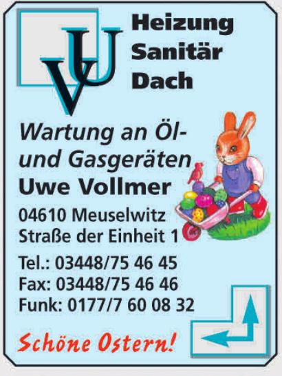Uwe Vollmer Heizung, Sanitär, Dach