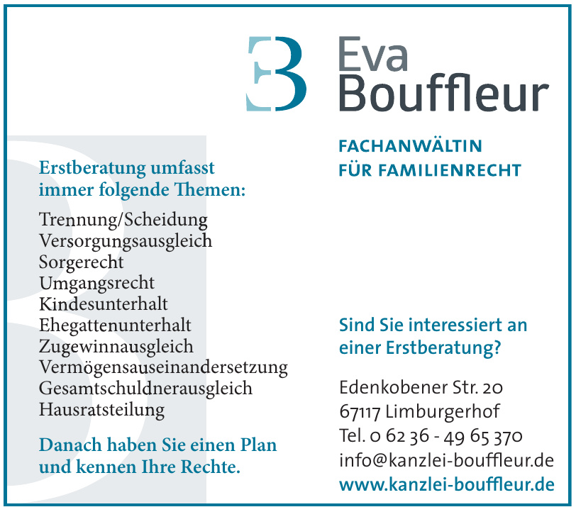 Fachanwältin Eva Bouffleur