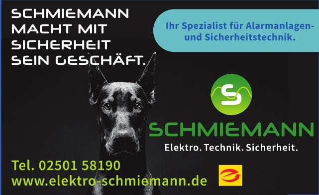 Schmiemann Lektro. Technik. Sicherheit.