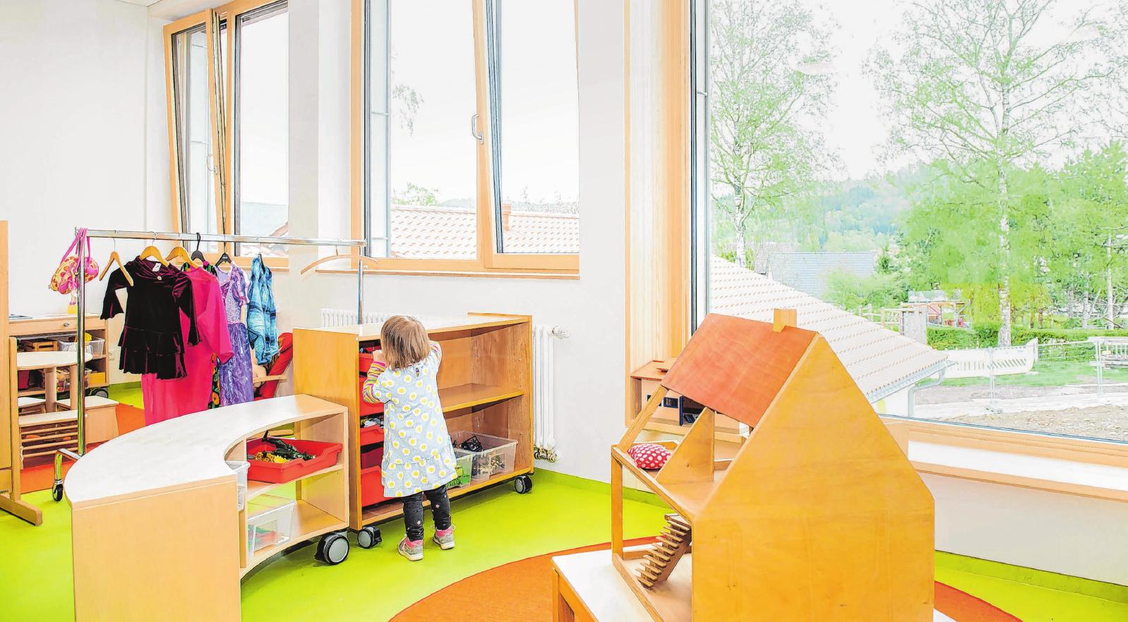 Viel Platz und Licht sorgen für eine gute Atmosphäre zum Lernen, Spielen und Heranwachsen. Foto: Nicole Schielberg/Stadt Gaildorf
