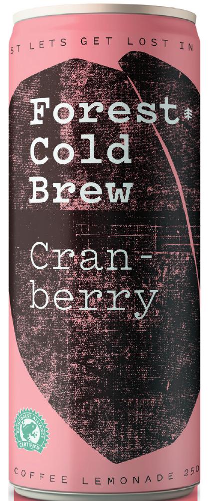 Kalter Kaffee trifft auf Cranberry Grafik: Forest Getränke GmbH