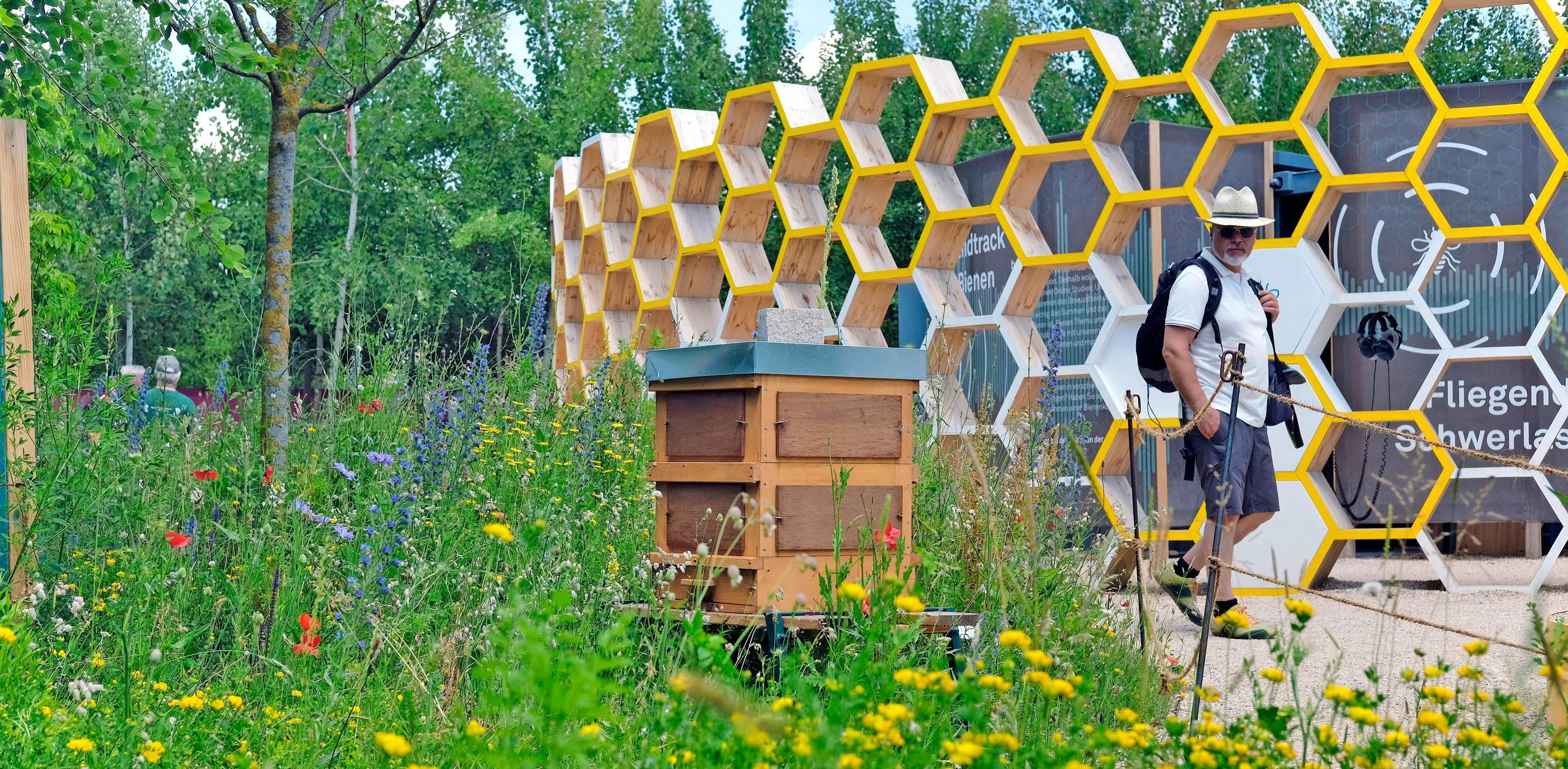 Bienengarten: Die Imker und ihre Tiere waren der Anziehungspunkt für Jung und Alt.