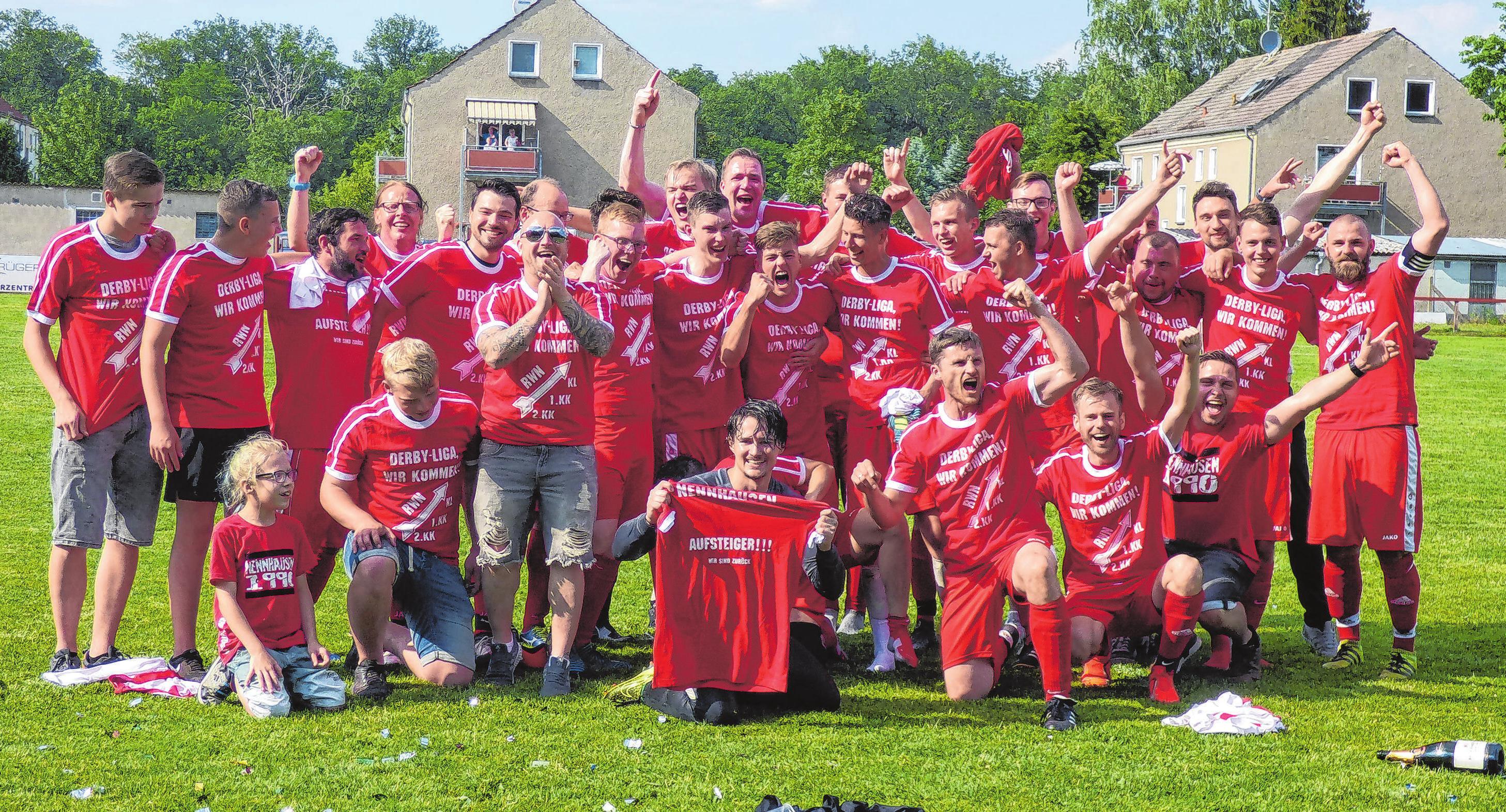 Diese Mannschaft feierte 2019 den Aufstieg in die Kreisliga.