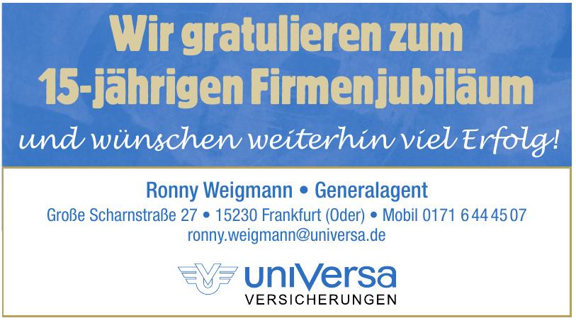 Ronny Weigmann - Generalagent uniVersa Versicherungen