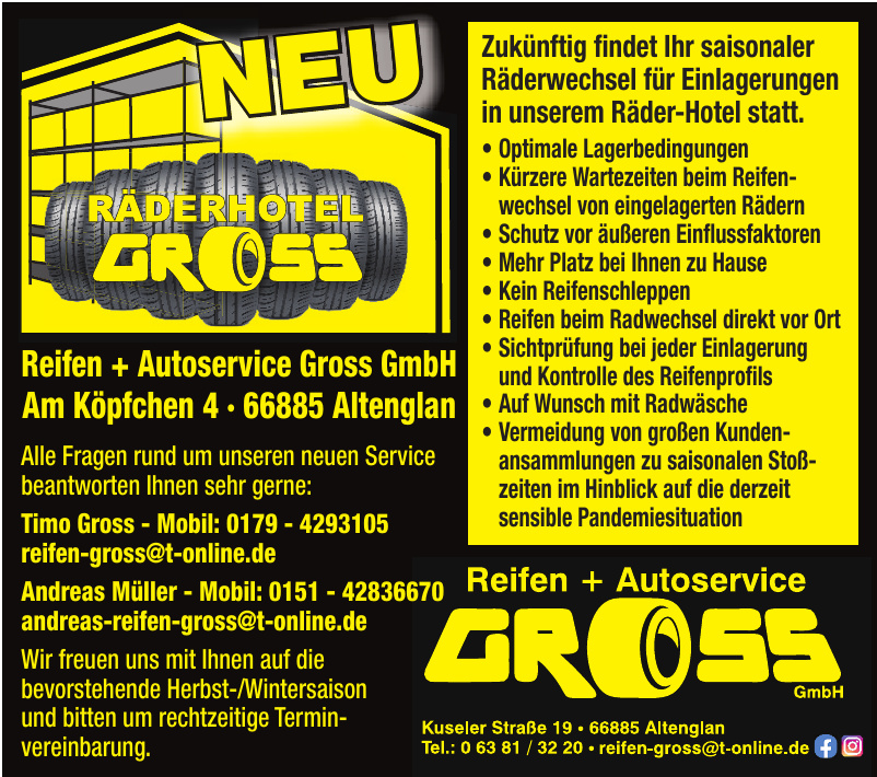 Reifen + Autoservice Gross GmbH
