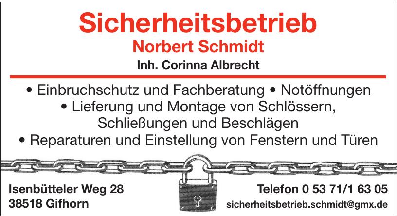 Sicherheitsbetrieb Norbert Schmidt