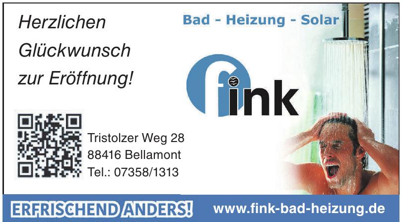Fink Bad Heizung Solar
