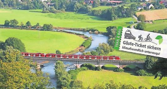Gäste der Naturregion Sieg fahren kostenlos mit der Bahn.