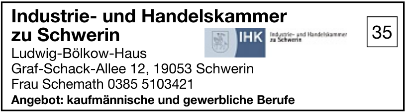 Industrie- und Handelskammer zu Schwerin